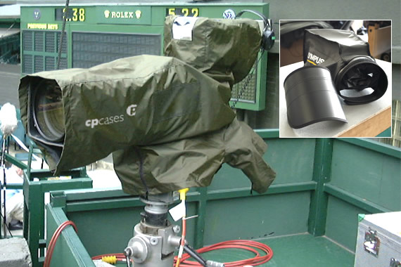 Ruggedised OB Camera Rain Covers