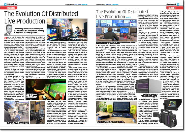 Evolution Of Distributed Live Production