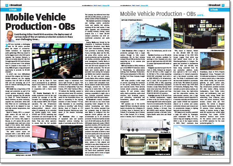 Mobile Vehicle Production - OBs