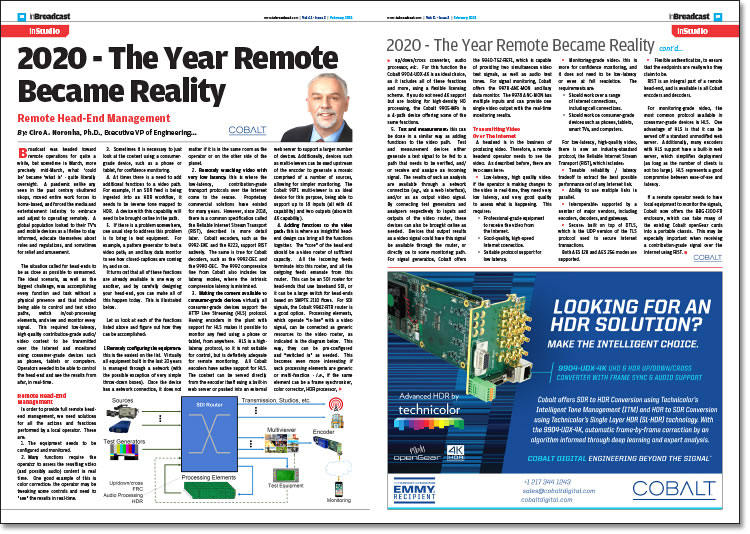 2020 - The Year Remote Became Reality
