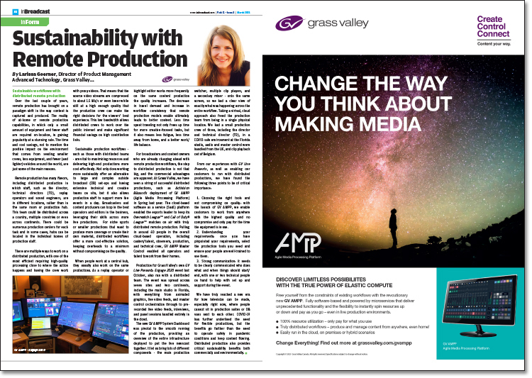 Sustainability with Remote Production