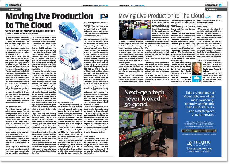 Moving Live Production to The Cloud