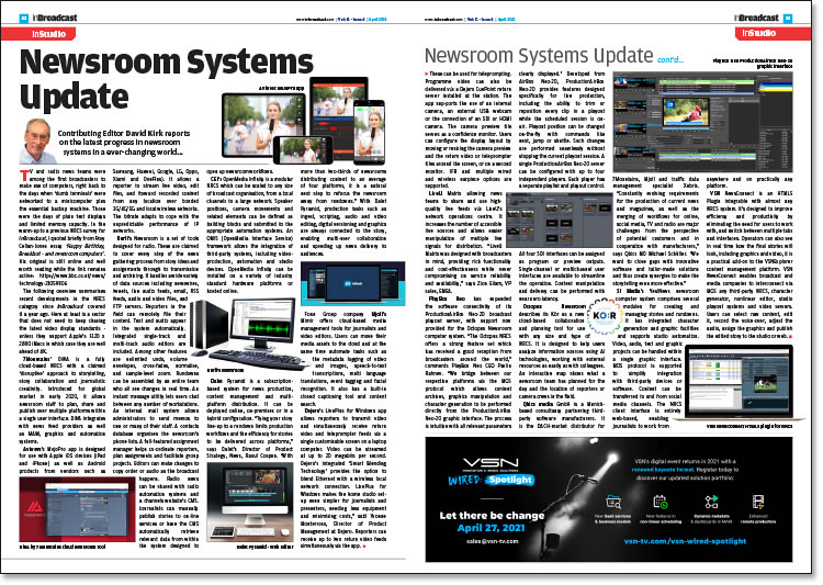 Newsroom Systems Update