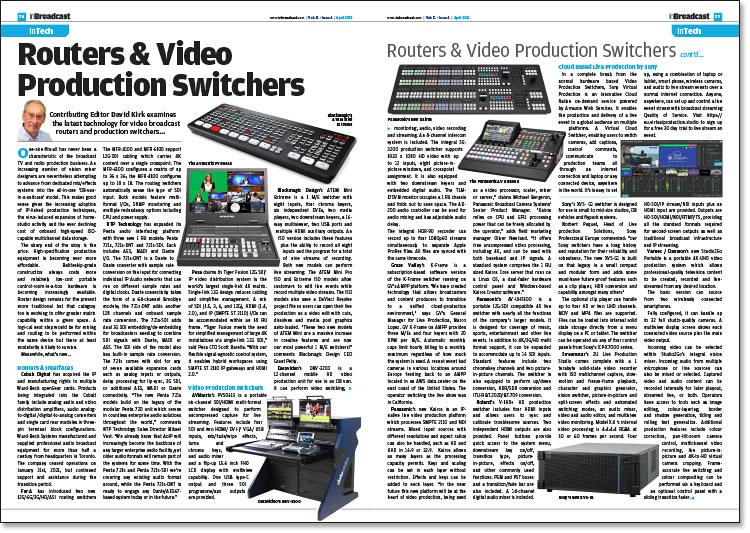 Routers & Video Production Switchers