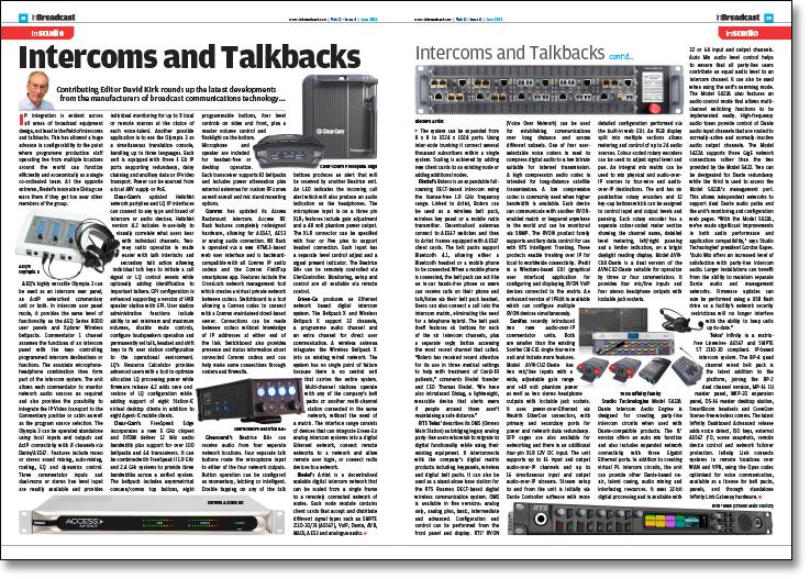 Intercoms and Talkbacks