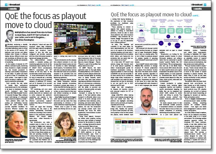 QoE the focus as playout move to cloud