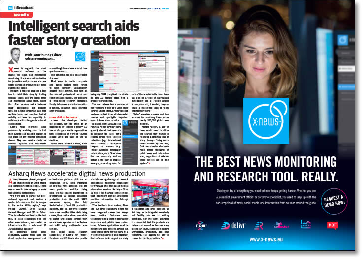 Intelligent search aids faster story creation
