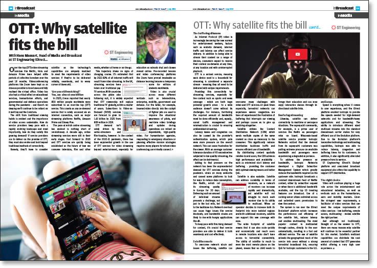 OTT: Why satellite fits the bill