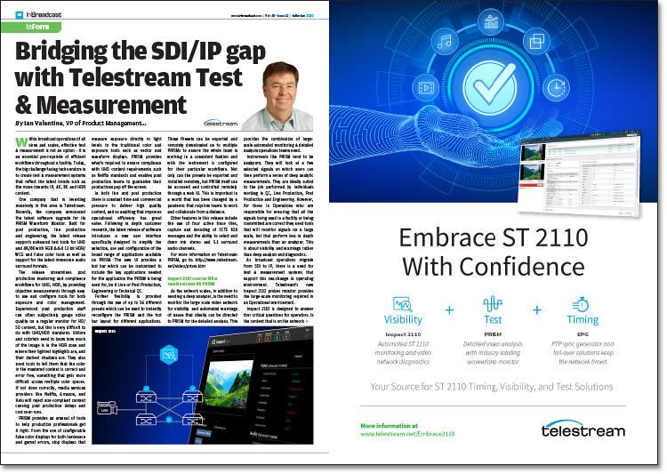 Bridging the SDI/IP Gap with Telestream