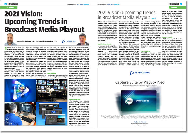 2021 Vision: Upcoming Trends in Broadcast Media Playout