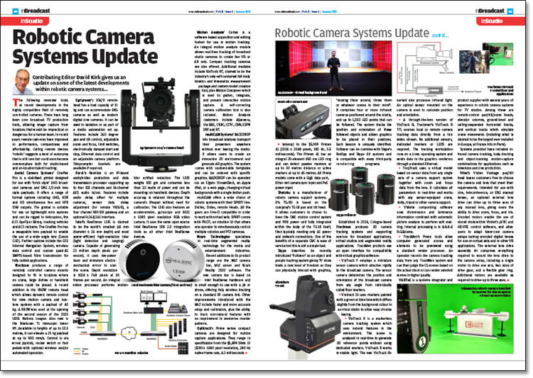 Robotic Camera Systems Update