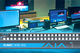 AJA's 12G-SDI Gear Integral At ADK Creative One