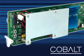 Cobalt Digital Targets Need for Multiple Video Feeds with openGear 9905‑MPx Multi-Channel Processor