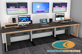AE Live Selects Custom Consoles M-Desk-Technical