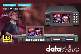 Datavideo Unveils HDR-80 & HDR-90 ProRes 4K Recorders