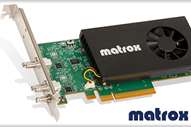 Matrox Announces the Broadcast Industry's Most Versatile SDI I/O Low-Profile Card