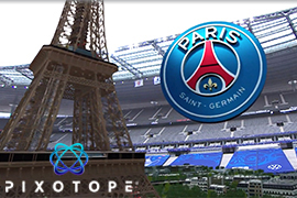 Pixotope generates live AR graphics for French Cup final