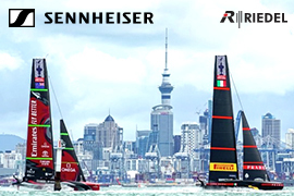 Sennheiser supported Riedel for 36th America's Cup