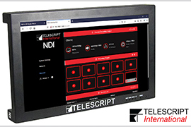 Telescript Announces World's First - Displays With NDI® Built-In