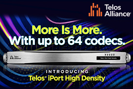 Telos intros iPort High Density Multi-Codec Gateway