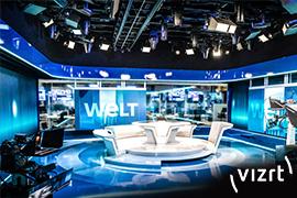 Vizrt delivers groundbreaking software-first studio to Welt Television